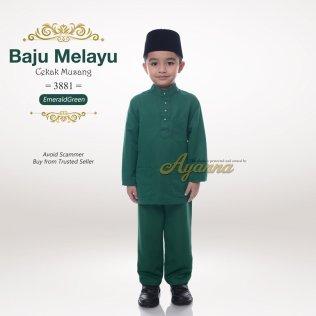 Baju Melayu Cekak Musang 3881 (EmeraldGreen)