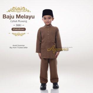Baju Melayu Cekak Musang 3881 (KhakisBrown)