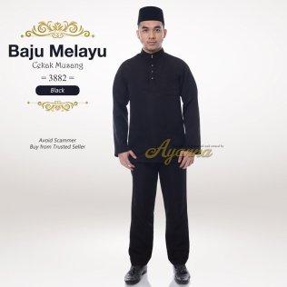 Baju Melayu Cekak Musang 3882 (Black)
