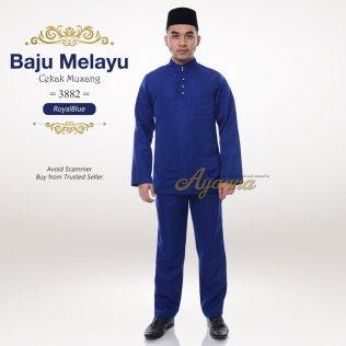 Baju Melayu Cekak Musang 3882 (RoyalBlue)