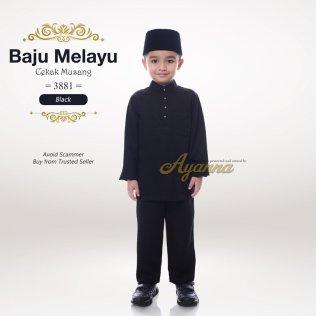 Baju Melayu Cekak Musang 3881 (Black)