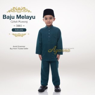 Baju Melayu Cekak Musang 3881 (Indicolite)