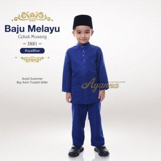 Baju Melayu Cekak Musang 3881 (RoyalBlue)
