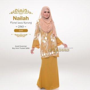 Nailah Floral Lace Kurung 2543 (Gold)