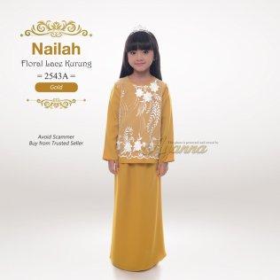 Nailah Floral Lace Kurung 2543A (Gold)