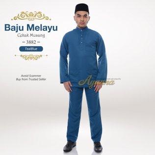 Baju Melayu Cekak Musang 3882 (TealBlue)