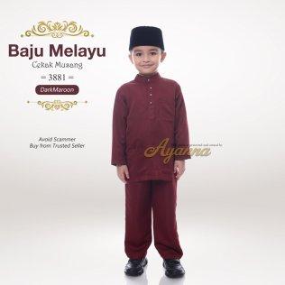 Baju Melayu Cekak Musang 3881 (DarkMaroon)
