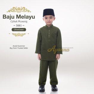 Baju Melayu Cekak Musang 3881 (OliveGreen)