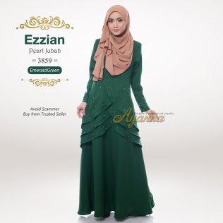 Ezzian Pearl Jubah 3859 (EmeraldGreen)