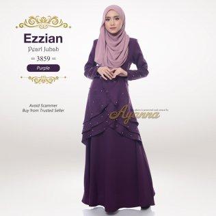 Ezzian Pearl Jubah 3859 (Purple)