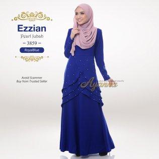 Ezzian Pearl Jubah 3859 (RoyalBlue)
