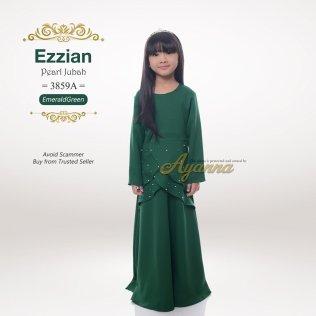 Ezzian Pearl Jubah 3859A (EmeraldGreen)