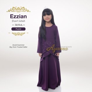 Ezzian Pearl Jubah 3859A (Purple)