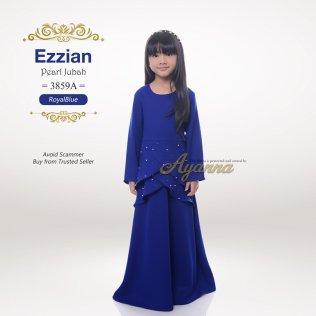 Ezzian Pearl Jubah 3859A (RoyalBlue)