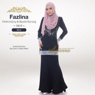 Fazlina Embroidery & Beads Kurung 3819 (Black)
