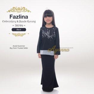 Fazlina Embroidery & Beads Kurung 3819A (Black)