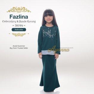 Fazlina Embroidery & Beads Kurung 3819A (Indicolite)