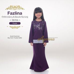 Fazlina Embroidery & Beads Kurung 3819A (Purple)