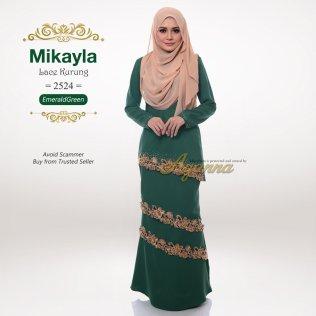 Mikayla Lace Kurung 2524 (EmeraldGreen)