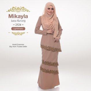 Mikayla Lace Kurung 2524 (LightKhakis)