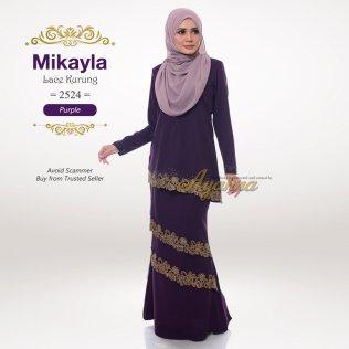 Mikayla Lace Kurung 2524 (Purple)
