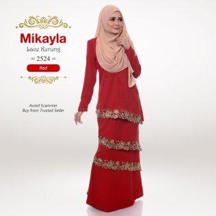 Mikayla Lace Kurung 2524 (Red)