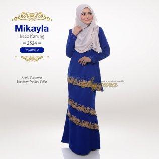 Mikayla Lace Kurung 2524 (RoyalBlue)