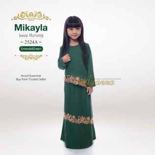 Mikayla Lace Kurung 2524A (EmeraldGreen)