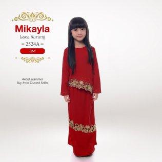 Mikayla Lace Kurung 2524A (Red)