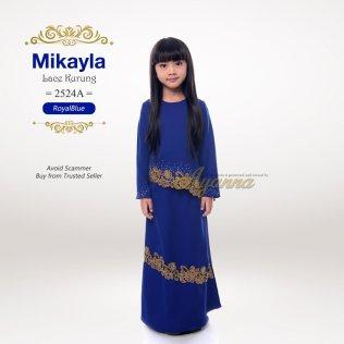 Mikayla Lace Kurung 2524A (RoyalBlue)
