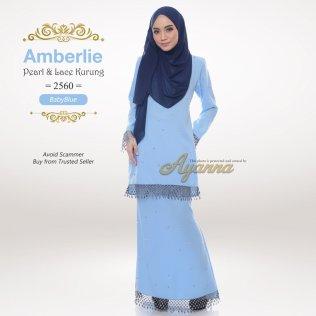 Amberlie Pearl & Lace Kurung 2560 (BabyBlue)