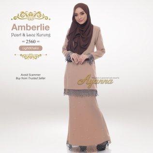 Amberlie Pearl & Lace Kurung 2560 (LightKhakis)