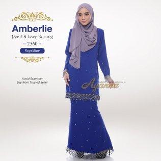 Amberlie Pearl & Lace Kurung 2560 (RoyalBlue)