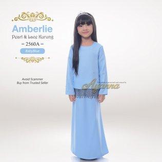 Amberlie Pearl & Lace Kurung 2560A (BabyBlue)