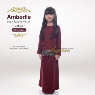 Amberlie Pearl & Lace Kurung 2560A (DarkMaroon)