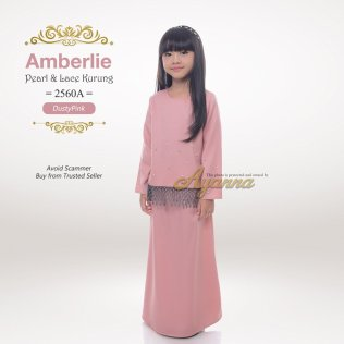 Amberlie Pearl & Lace Kurung 2560A (DustyPink)