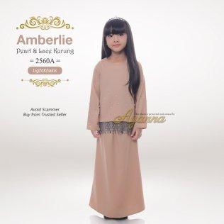 Amberlie Pearl & Lace Kurung 2560A (LightKhakis)