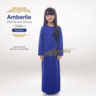 Amberlie Pearl & Lace Kurung 2560A (RoyalBlue)