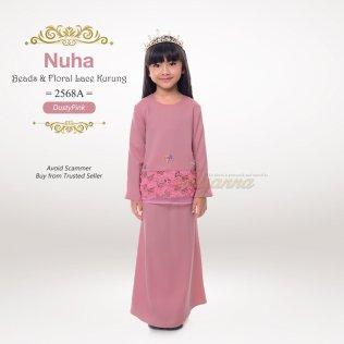 Nuha Beads & Floral Lace Kurung 2568A (DustyPink)