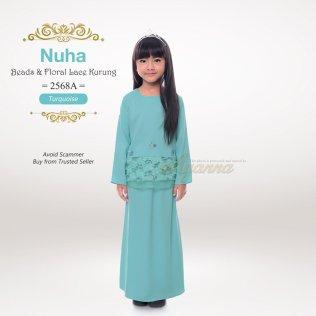 Nuha Beads & Floral Lace Kurung 2568A (Turquoise)