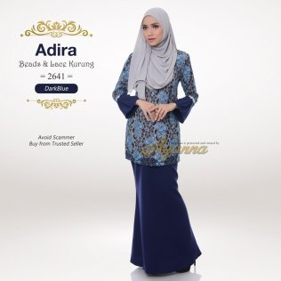 Adira Beads & Lace Kurung 2641 (DarkBlue)