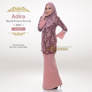 Adira Beads & Lace Kurung 2641 (DustyPink)