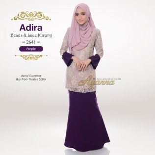Adira Beads & Lace Kurung 2641 (Purple)