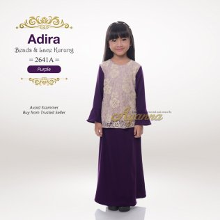 Adira Beads & Lace Kurung 2641A (Purple)