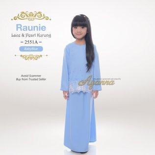 Raunie Lace & Pearl Kurung 2551A (BabyBlue)