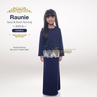 Raunie Lace & Pearl Kurung 2551A (DarkBlue)
