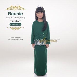Raunie Lace & Pearl Kurung 2551A (EmeraldGreen)