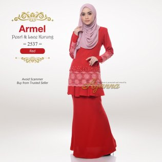 Armel Pearl & Lace Kurung 2537 (Red)
