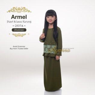 Armel Pearl & Lace Kurung 2537A (OliveGreen)