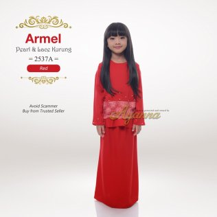 Armel Pearl & Lace Kurung 2537A (Red)